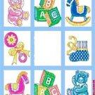 Baby Squares Design Blanket Throw Blocks Rocking Horse