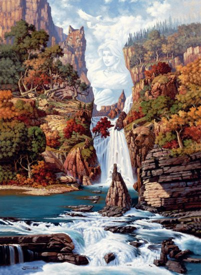 Phantom of the Falls Hidden Images 1500 PC Puzzle artist Johnathan Bowser