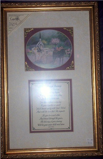 Gold Embossed Framed Print Marriage Journey Wedding The Marriage Journey by Jadine Nollan