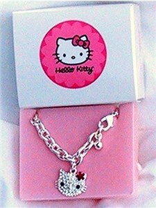Avon Hello Kitty Bracelet with Crystals Pink Flower NEW