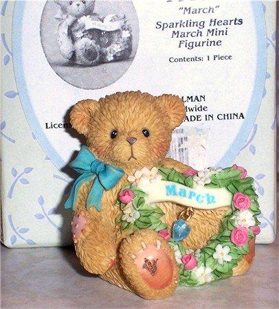 Cherished Teddies March  Birthstone Figurine NEW