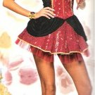 Fancy Dress Queen of Hearts Ladies Costume SZ LG 12-14
