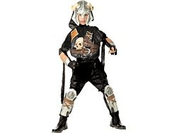 Crossbones Warrior Child Halloween Costume 8-10 Pirate