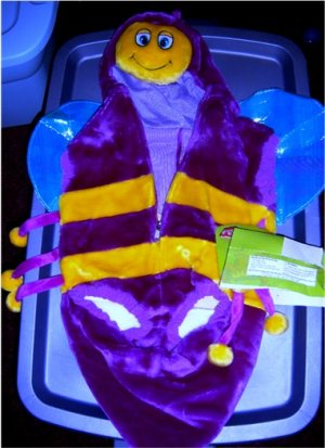 Colorful Toddler Bee Costume Bumble Bee SZ S 2-3 NEW