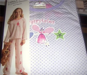 Carole's Kids Girls Fairytales Purple Pajama Set Size 4