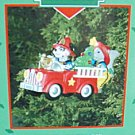 Holiday Heroes Treasury of Christmas Ornaments Enesco NEW Fire Truck Dalmatian