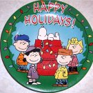 Peanuts Christmas Collector Plate Snoopy Charlie Brown