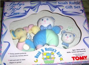 Noah  & Nellie's Ark  Baby Rattle Gift Set