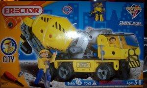 Erector Cement Mixer Builds 6 Toys Motor NEW 2 Figures