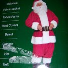 Deluxe Santa Suit SZ Medium NEW 7 Pieces Glasses Beard
