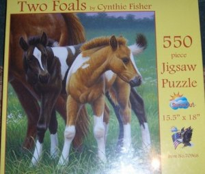 Two Foals Jigsaw Puzzle by Cynthie Fisher 550 Pieces