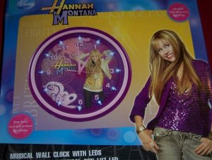 Hannah Montana Musical  Clock LED Lights Light Show