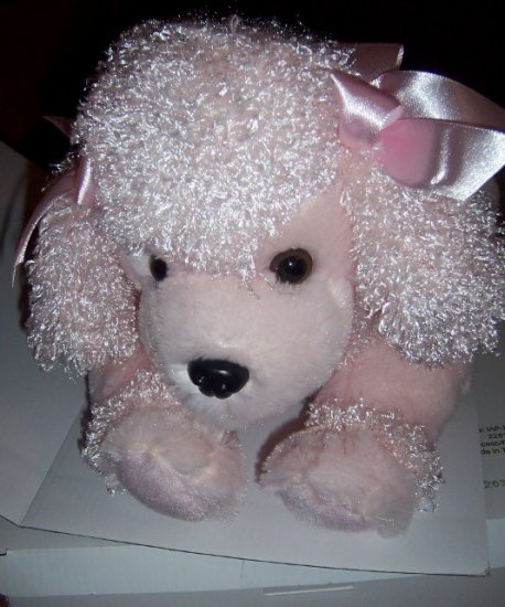 Interactive Pink Poodle Plush Barks Cries Moves NEW