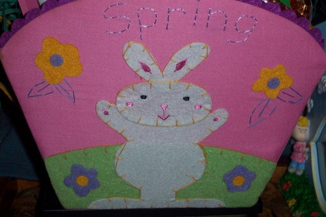 Easter Felt Basket Bunny Activity Set Grass Stamps NEW