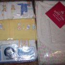 Bunny & Duck 3 Sleepers + Baby Blanket NEW 0-3 Months