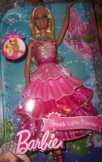 Barbie Sparkle Lights Princess Doll Lights Up NEW