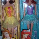 Disney Ballerina Princess Ariel & Belle Dolls NEW
