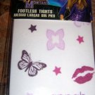 Hannah Montana Footless Tights with Butterflies 2 Pair