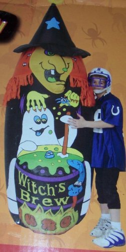 Witch's Brew 7 Foot Inflatable with Green Witch