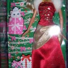 Beautiful Holiday Barbie Doll Dressed in Red Gift Tagged