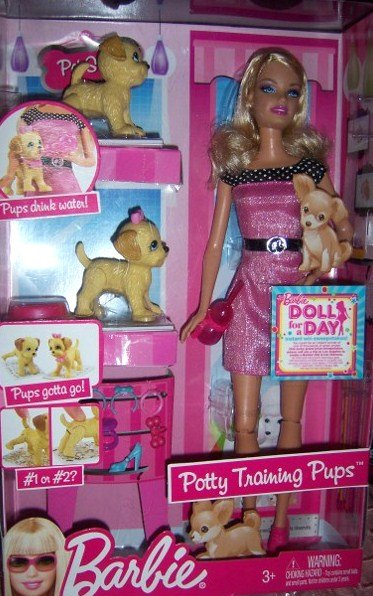 Help Barbie Potty Train Puppies Barbie & Pups Set