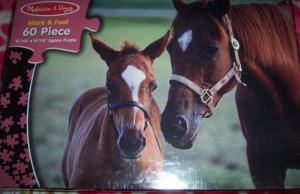 Melissa & Doug Childrens Jigsaw Puzzle Mare & Foal 60 PIeces