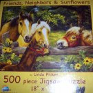 Friends Neighbors & Sunflowers Horses Jigsaw Puzzle