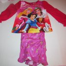 Disney Princess Christmas Pajama Set Snow White Belle Sleeping Beauty SZ 5T