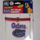 UF UNIVERSITY OF FLORIDA GATORS DOG COLLAR/BANDANA MED.
