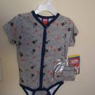 NWT THOMAS THE TANK ENGINE CREEPER ONSIE & BOOTIES 18M