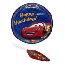 NEW CARS LIGHTNING MCQUEEN BIRTHDAY PLATE & SERVER