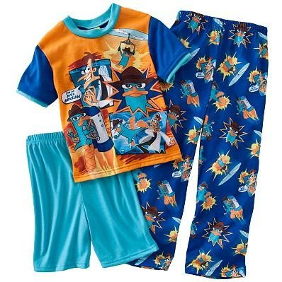 NEW NWT PHINEAS & FERB PERRY THE PLATYPUS 3 PC. PAJAMA SET SIZE 6