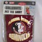 NEW  FLORIDA STATE SEMINOLES DOG PET SHIRT SIZE LARGE