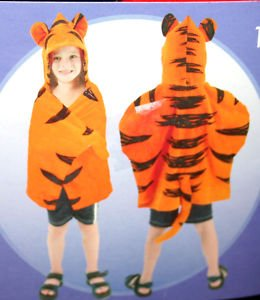 NEW NWT DISNEY TIGGER HOODED TOWEL WITH ATTACHED TOWEL