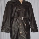 BRAND NEW Black James Leather Trenchcoat (XL) F700