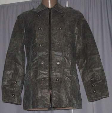 BRAND NEW Black Jimmy Leather Jacket (M) F701