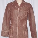 BRAND NEW Chocolate Vaudeville Leather Jacket (L) F724