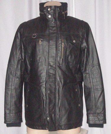 BRAND NEW Black Toronto Leather Jacket (2XL) F730