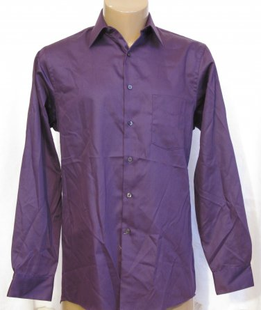 BRAND NEW Geoffrey Beene Purple L/S Shirt 15.5 34/35 #0837