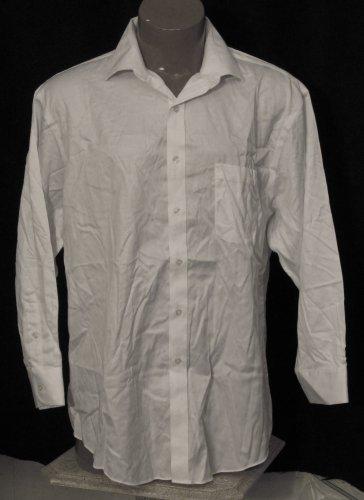 BRAND NEW White Tasso Elba L/S Shirt 17.5 32/33 #1027