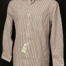 BRAND NEW Purple Striped Tasso Elba L/S Shirt 15.5 32/33 #1236