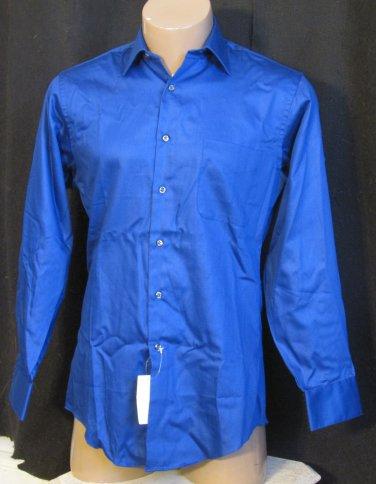 BRAND NEW Geoffrey Beene Dark Blue L/S Shirt 15.0 32/33 #1245