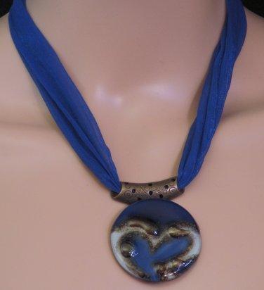 BRAND NEW Blue Glass Athenas Necklace #0573