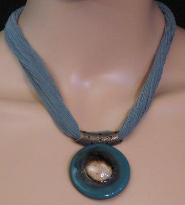 BRAND NEW Handmade Green Glass Athenas Necklace #0574