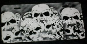 Airbrushed License Plate Car Tag Skulls