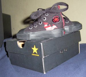 BATMAN CONVERSE SNEAKERS INFANT SIZE 3 NEW IN BOX