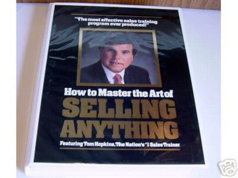 TOM HOPKINS - MASTER THE ART OF SELLING  ANYTHING -12 Tapes + 12 CDs - MSRP $195