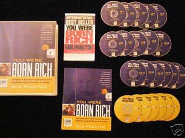 BOB PROCTOR - YOU WERE BORN RICH 6 DVD+15 CD - MSRP $595 - $AVE $300 -THE SECRET