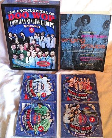 THE ENCYCLOPEDIA OF DOO WOP - VOLUME3 - 4 CD BOX SET - MANY ARTISTS  RARE & OOP
