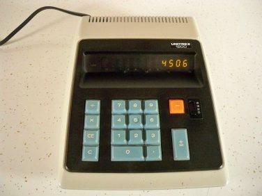 1970s Unitrex 1200 Desktop Vintage Calculator Easy2 Read Orange Panaplex Display
